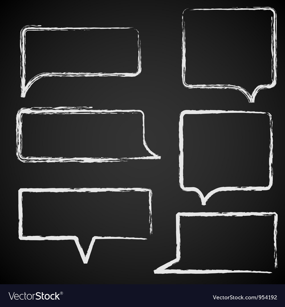 Sketch of speech bubbles chalked vector | Price: 1 Credit (USD $1)