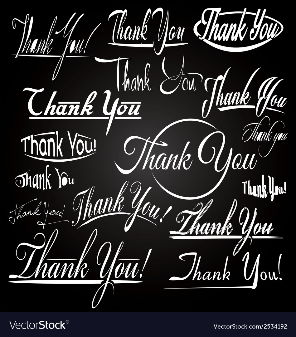 Thank you typography vector | Price: 1 Credit (USD $1)