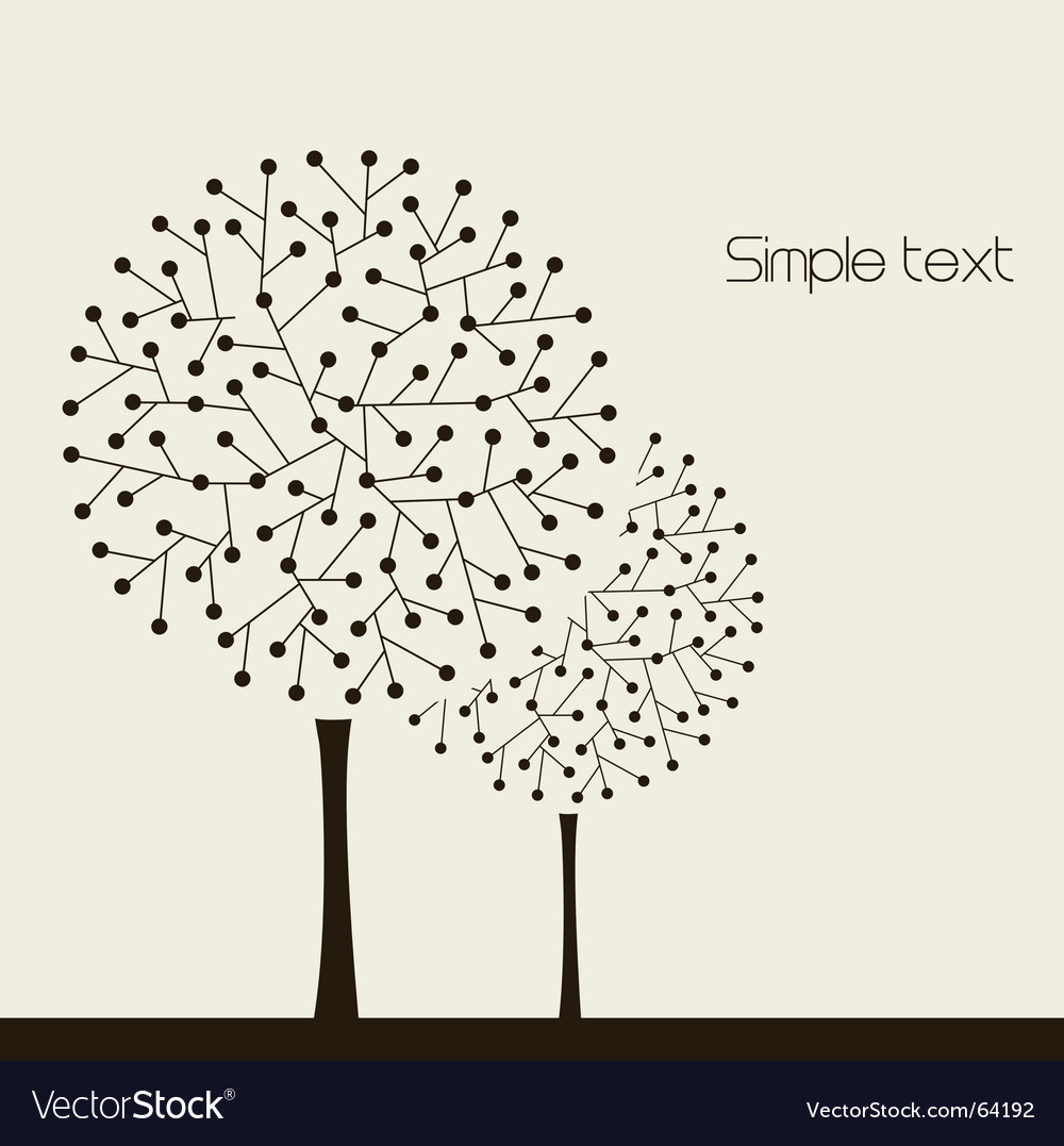 Trees design vector | Price: 1 Credit (USD $1)