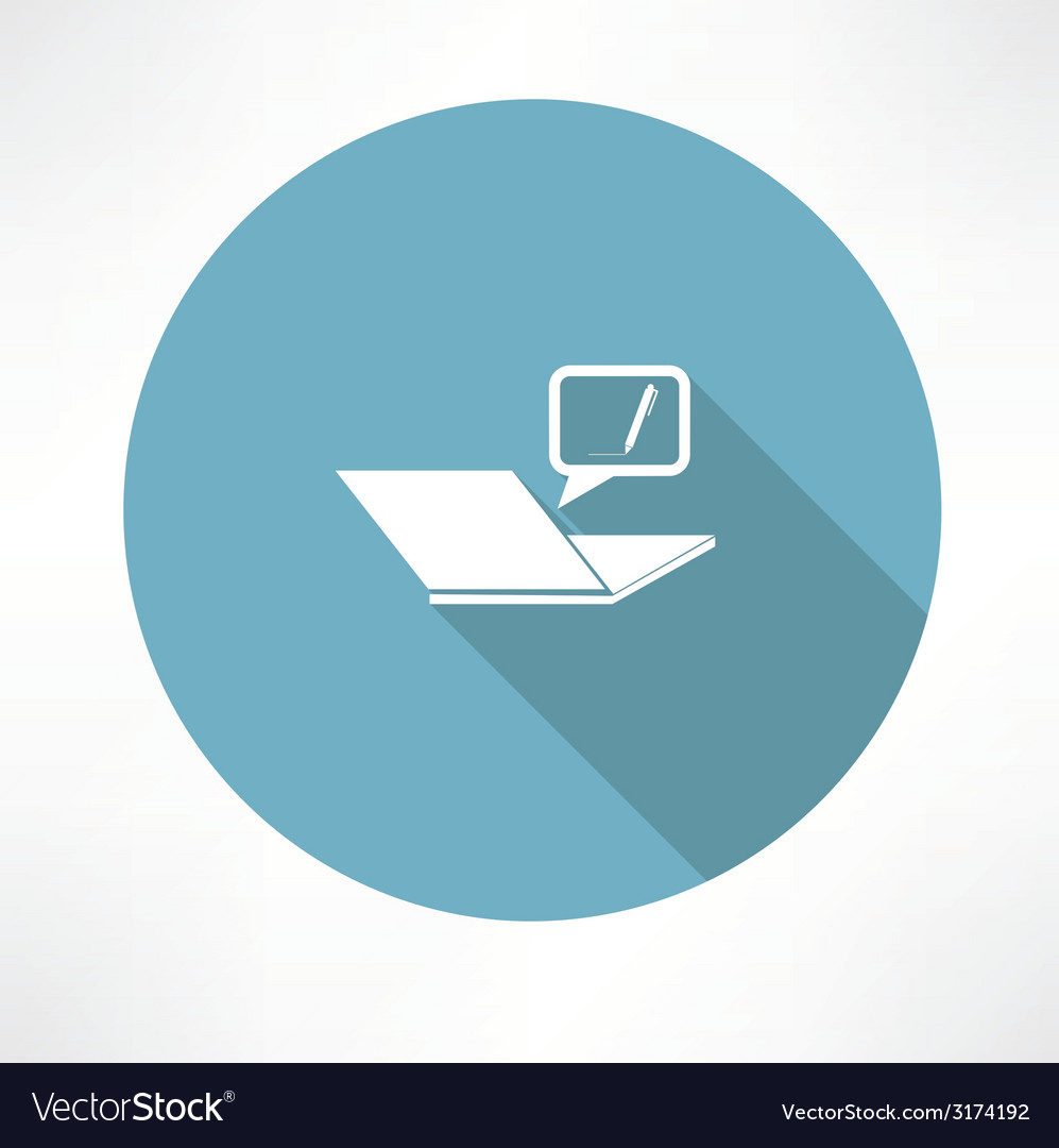 Typing on the notebook icon vector | Price: 1 Credit (USD $1)