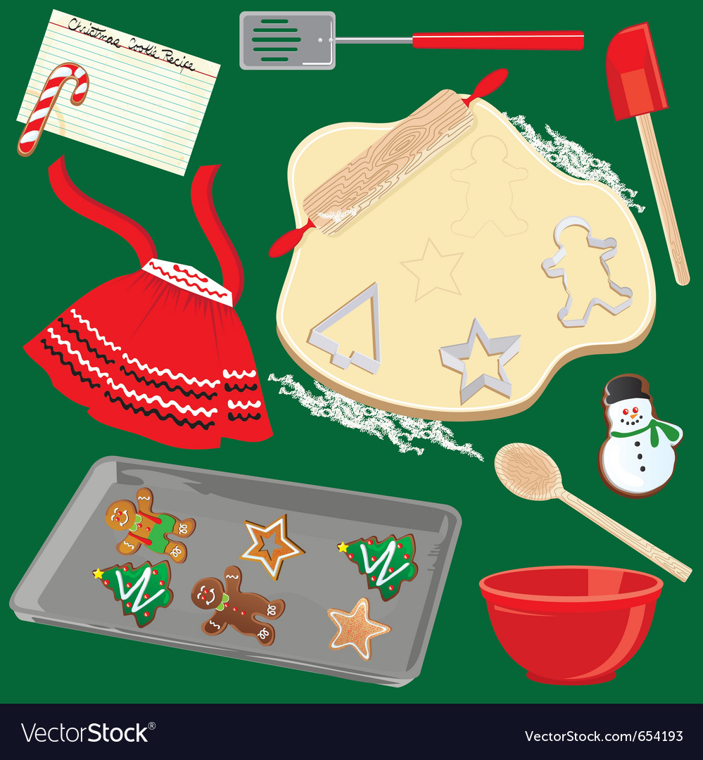 Baking christmas cookies vector | Price: 3 Credit (USD $3)