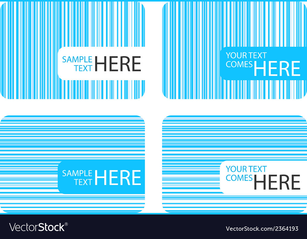 Business cards with blue stripes vector | Price: 1 Credit (USD $1)