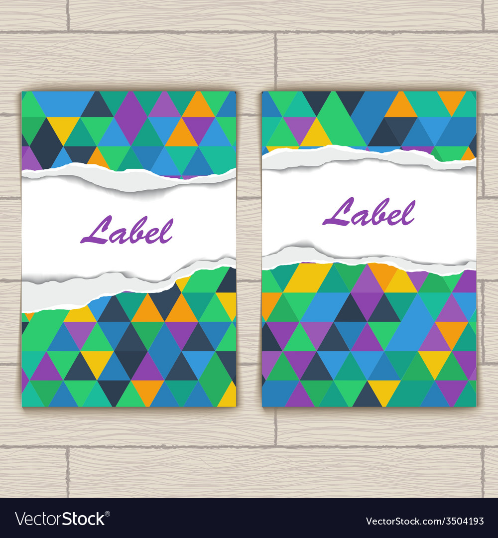 Card with pattern of colorful lozenges vector | Price: 1 Credit (USD $1)