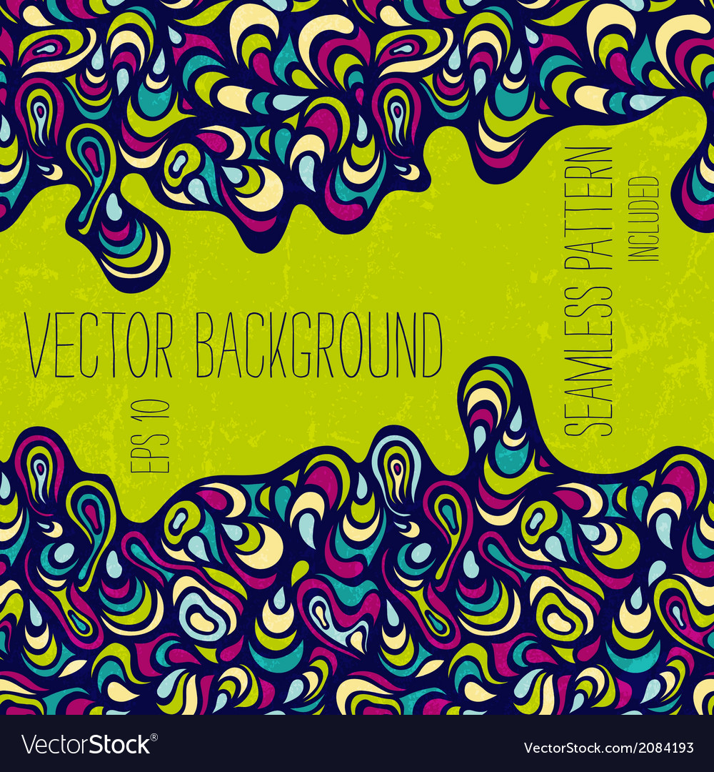 Hand-drawn abstract background vector | Price: 1 Credit (USD $1)