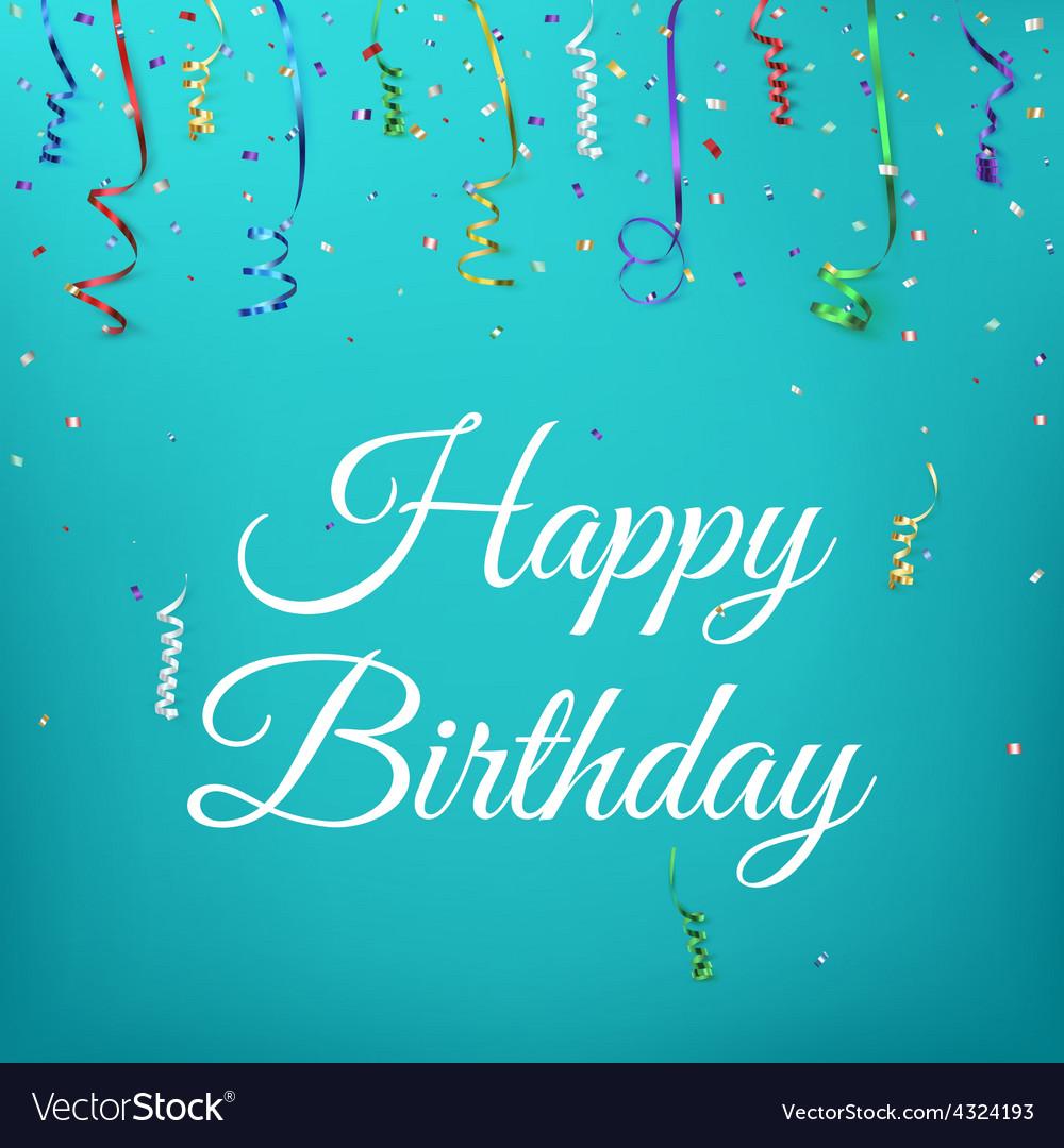 Happy birthday celebration background template vector | Price: 1 Credit (USD $1)