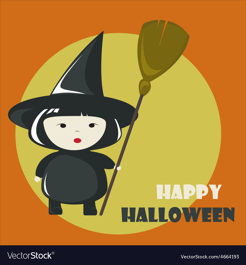 Happy halloween greeting card vector | Price: 1 Credit (USD $1)