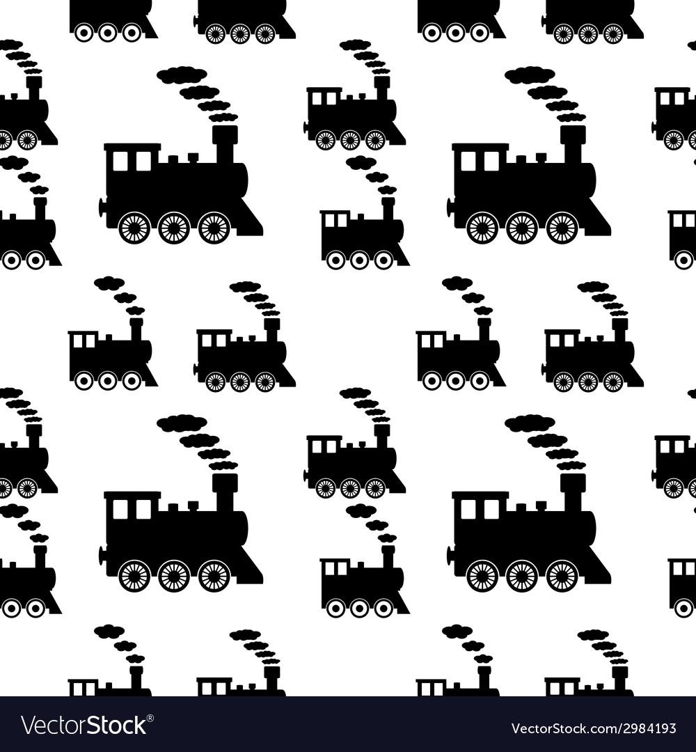 Locomotive seamless pattern vector   Price: 1 Credit (USD $1)