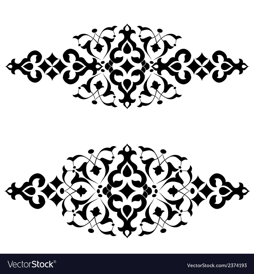 Ottoman motifs design series fifty three vector | Price: 1 Credit (USD $1)