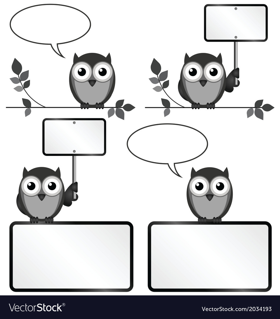 Owls with copy space vector | Price: 1 Credit (USD $1)