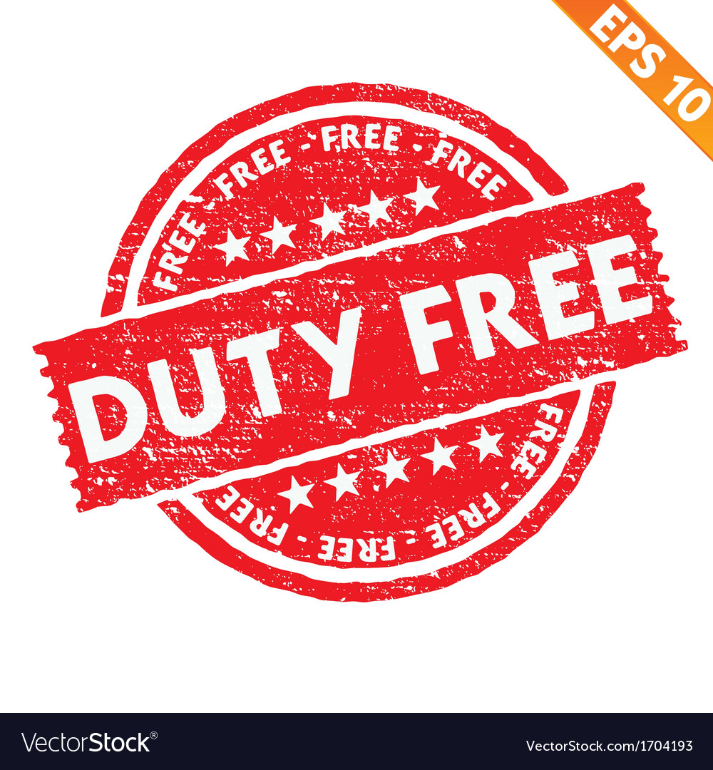 Stamp sticker duty free collection - - eps1 vector | Price: 1 Credit (USD $1)