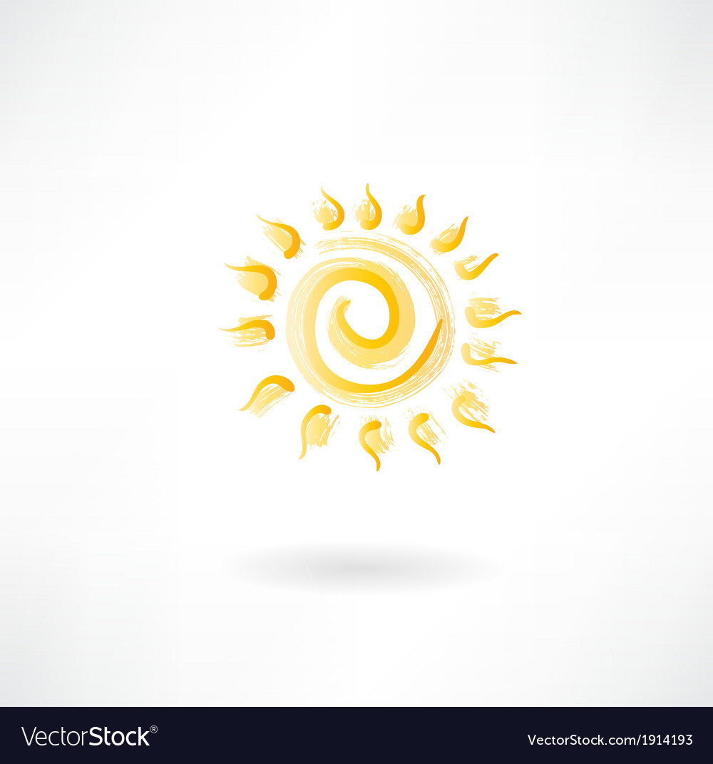 Yellow sun vector | Price: 1 Credit (USD $1)