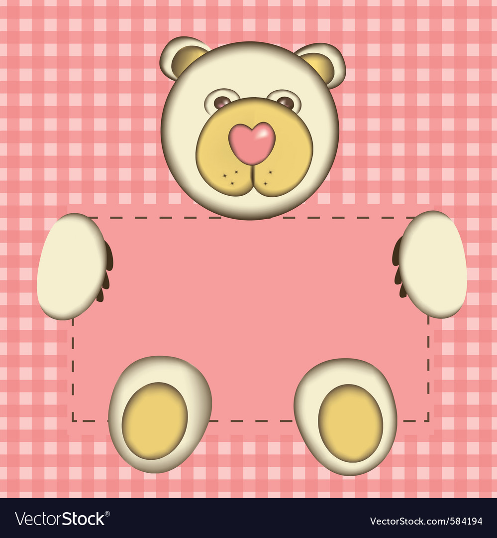Bear for baby girl vector | Price: 1 Credit (USD $1)