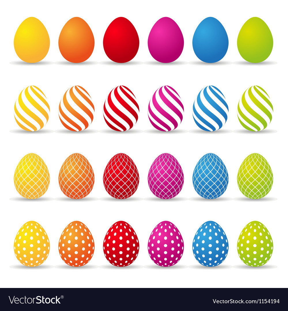 Colored easter eggs vector   Price: 1 Credit (USD $1)