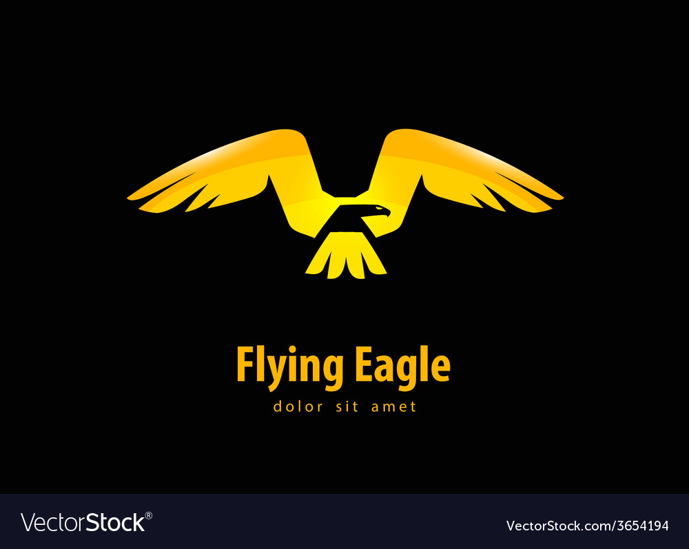 Eagle logo design template animal or bird icon vector | Price: 1 Credit (USD $1)
