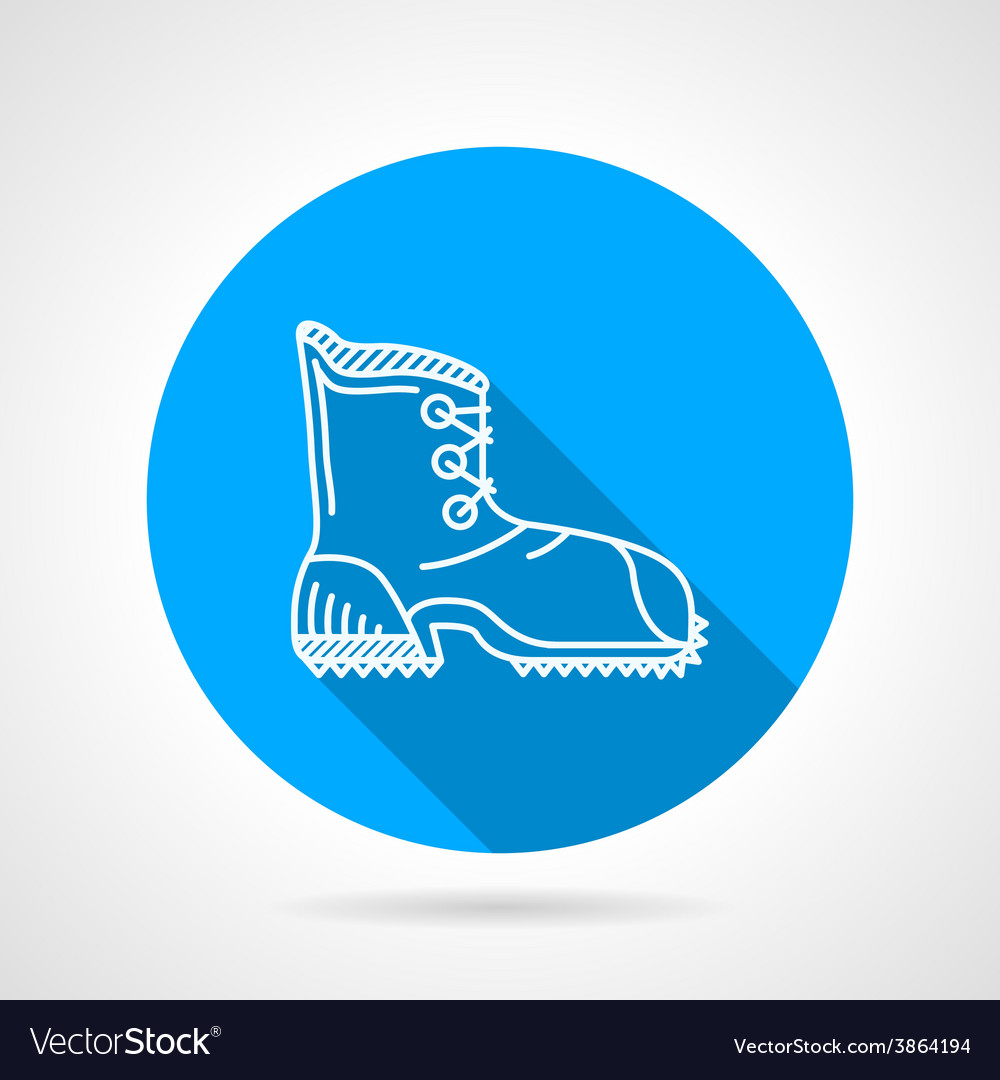Flat line icon for hike shoe vector | Price: 1 Credit (USD $1)