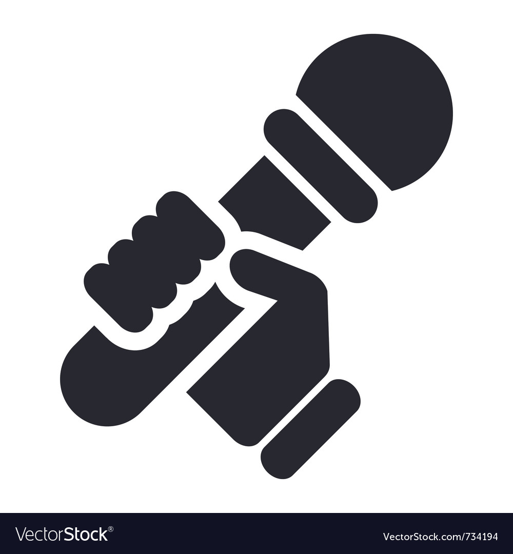 Karaoke icon vector | Price: 1 Credit (USD $1)