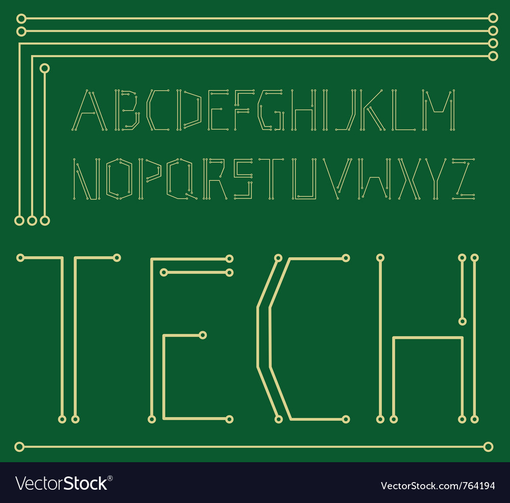 Motherboard alphabet vector | Price: 1 Credit (USD $1)