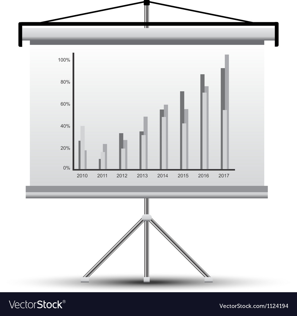 Projector screen vector | Price: 1 Credit (USD $1)