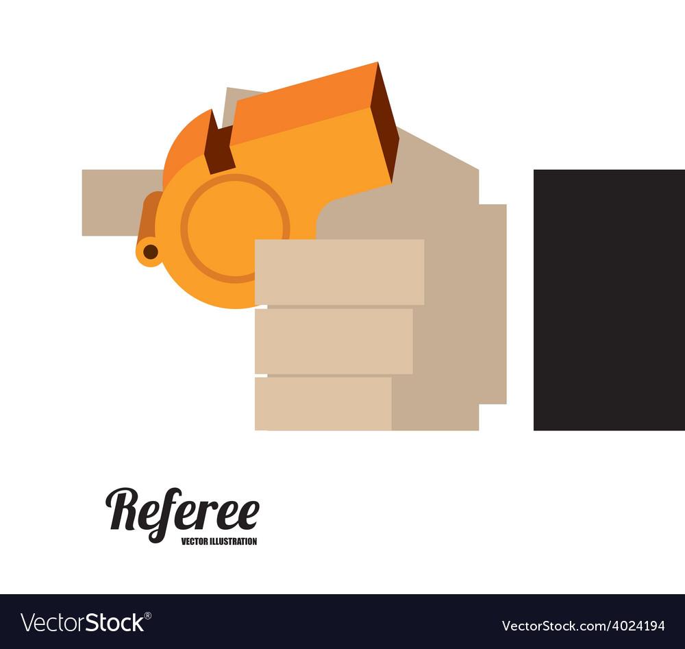 Referee desing vector | Price: 1 Credit (USD $1)