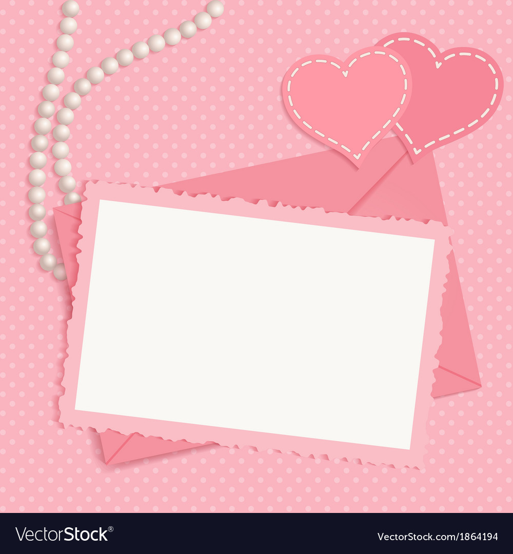 Retro pink framework vector | Price: 1 Credit (USD $1)