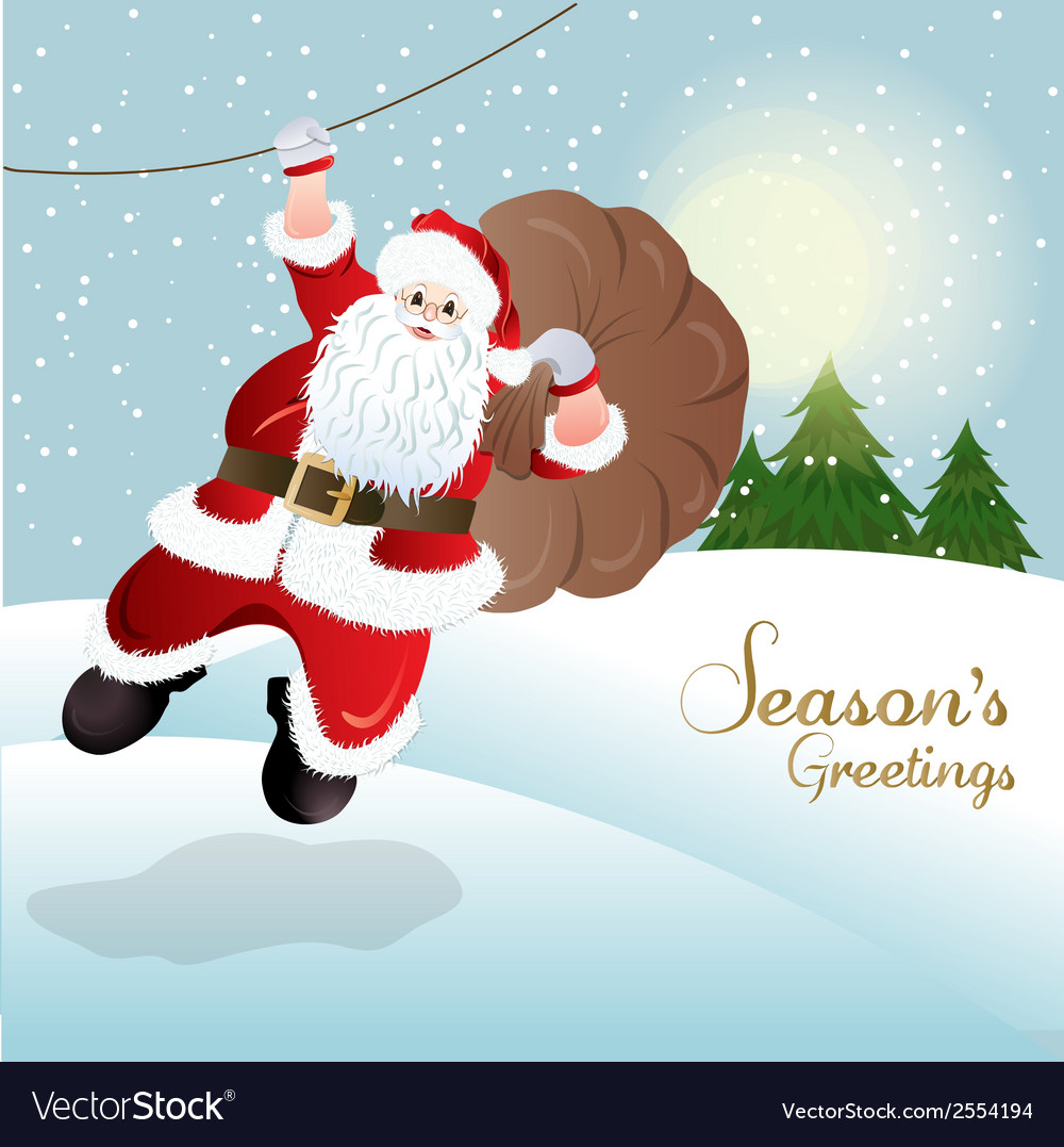 Santa claus greeting card design vector | Price: 1 Credit (USD $1)