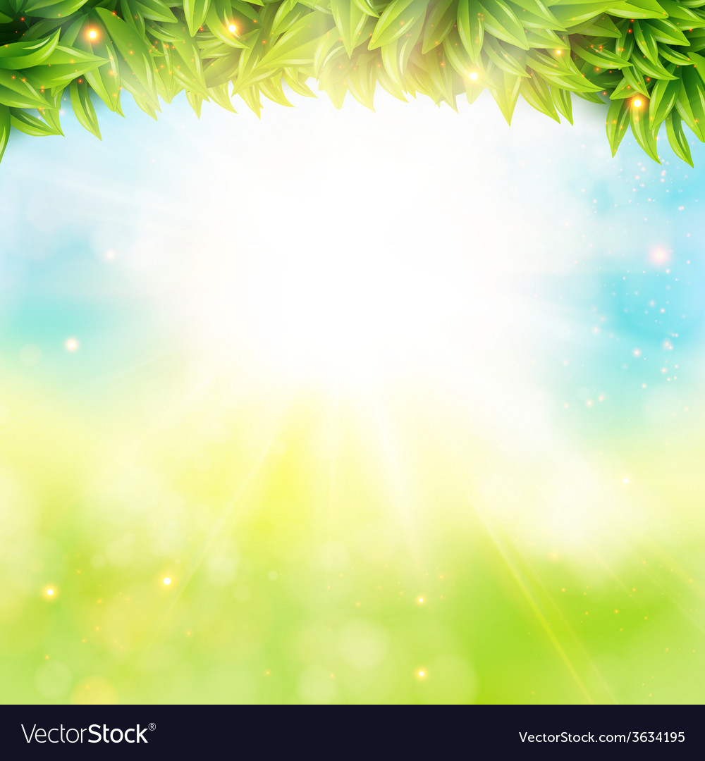 Abstract spring poster with shining sun and vector | Price: 1 Credit (USD $1)