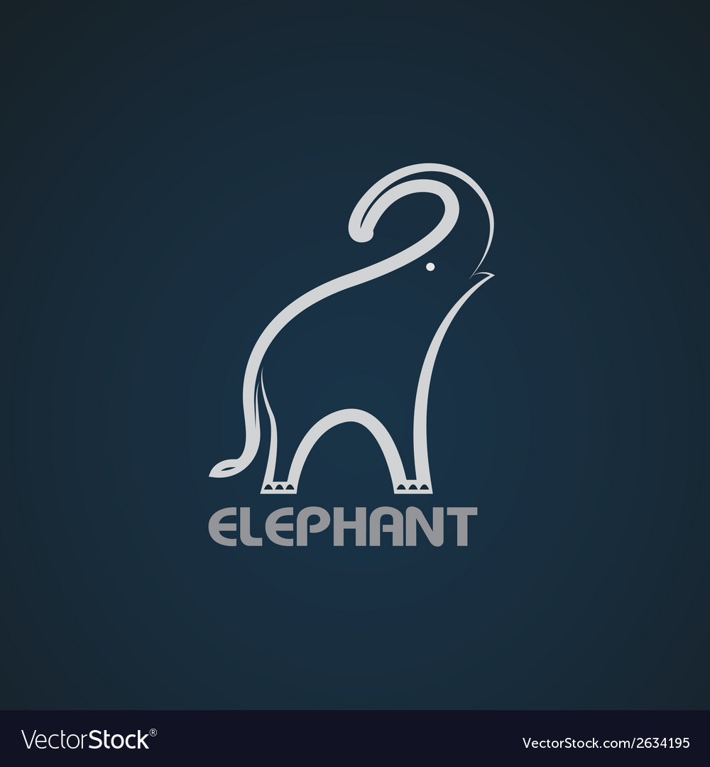 Image of an elephant design vector | Price: 1 Credit (USD $1)