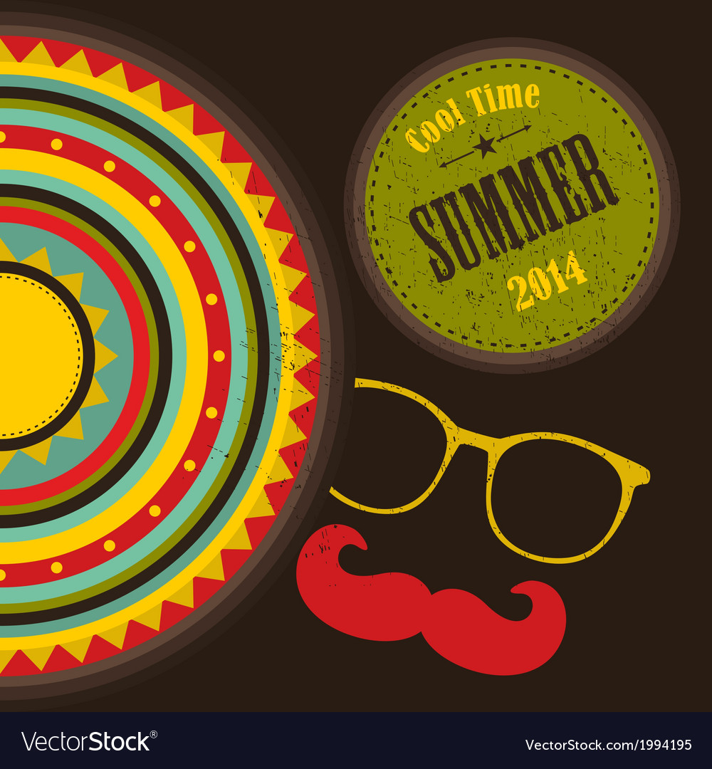 Retro cover for summer time vector | Price: 1 Credit (USD $1)