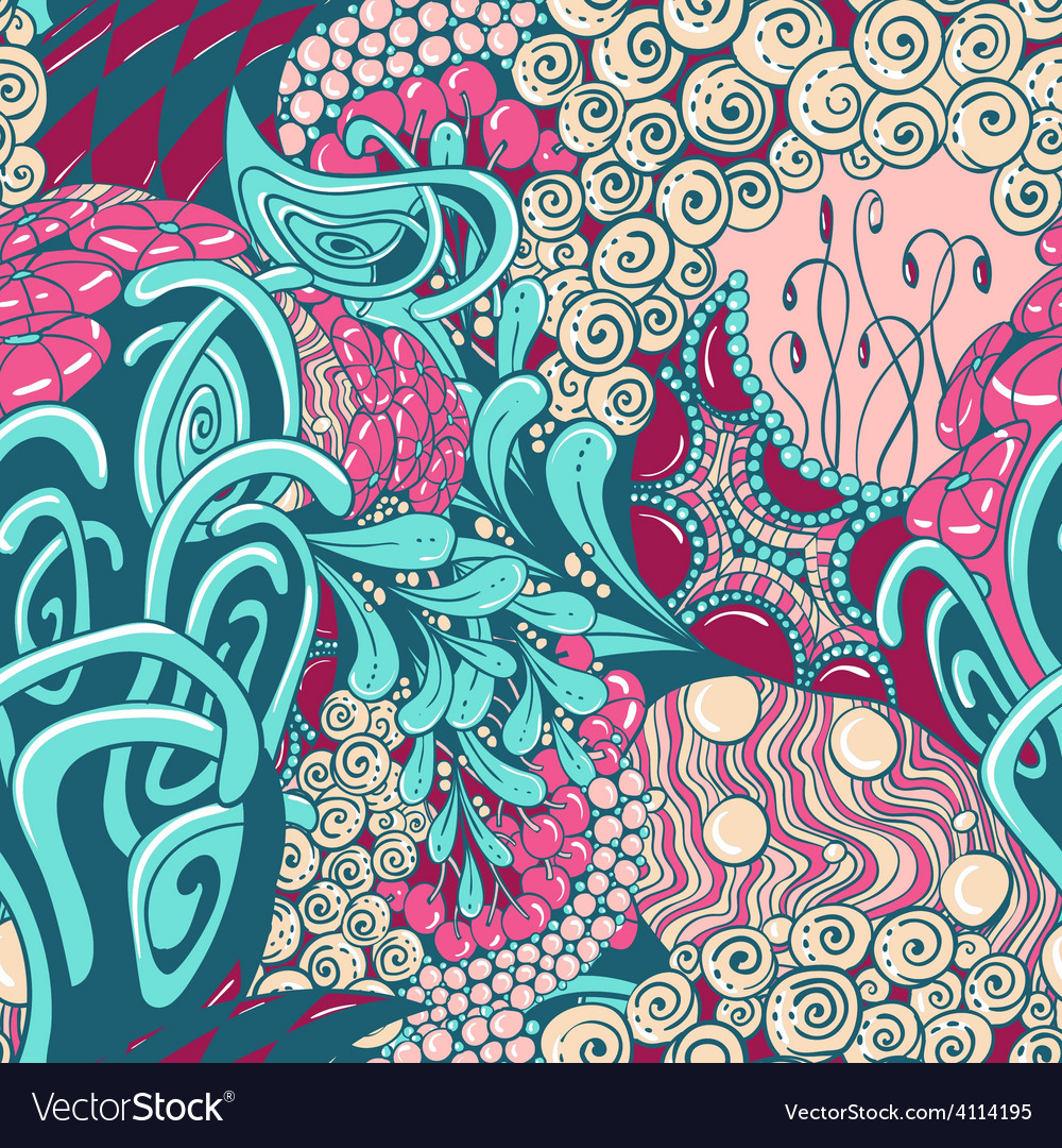 Seamless abstract pattern in contrast colors vector | Price: 1 Credit (USD $1)