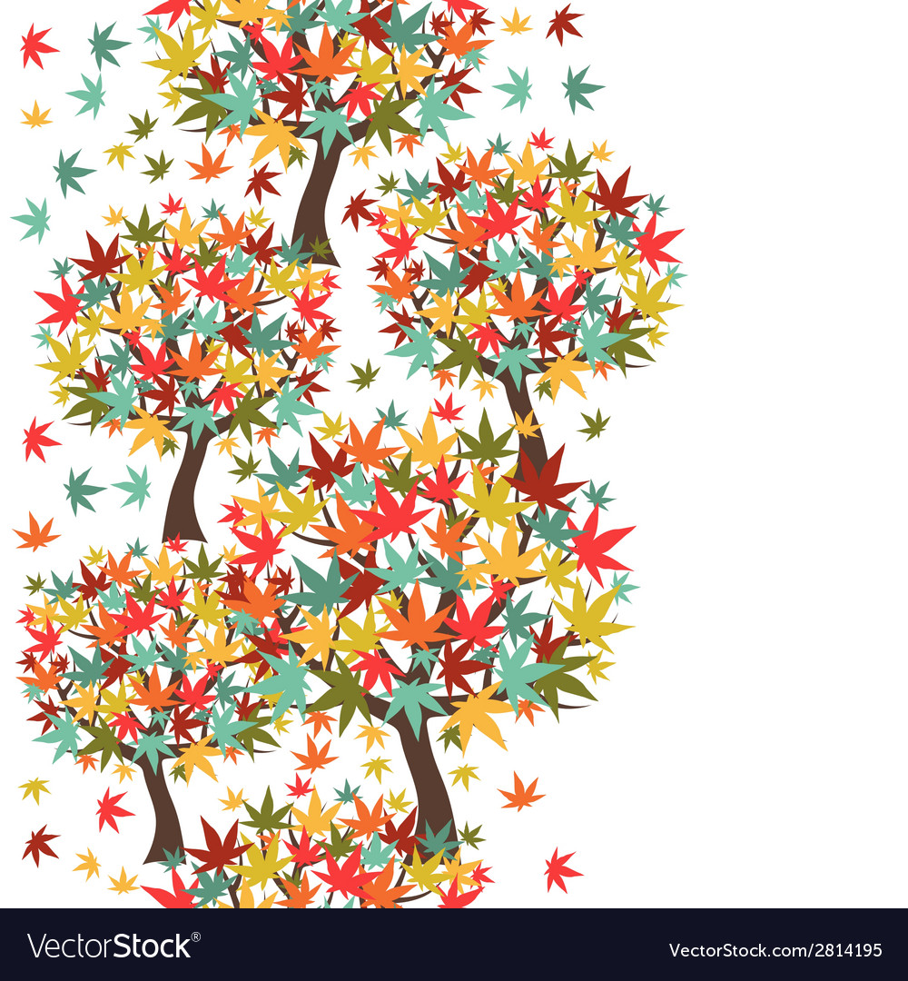 Seamless pattern of stylized autumn trees for vector | Price: 1 Credit (USD $1)