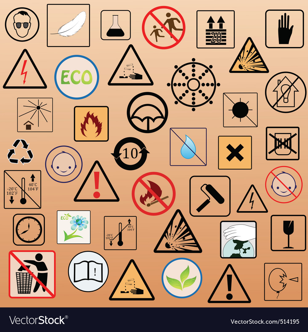 Set of packing symbols vector | Price: 1 Credit (USD $1)