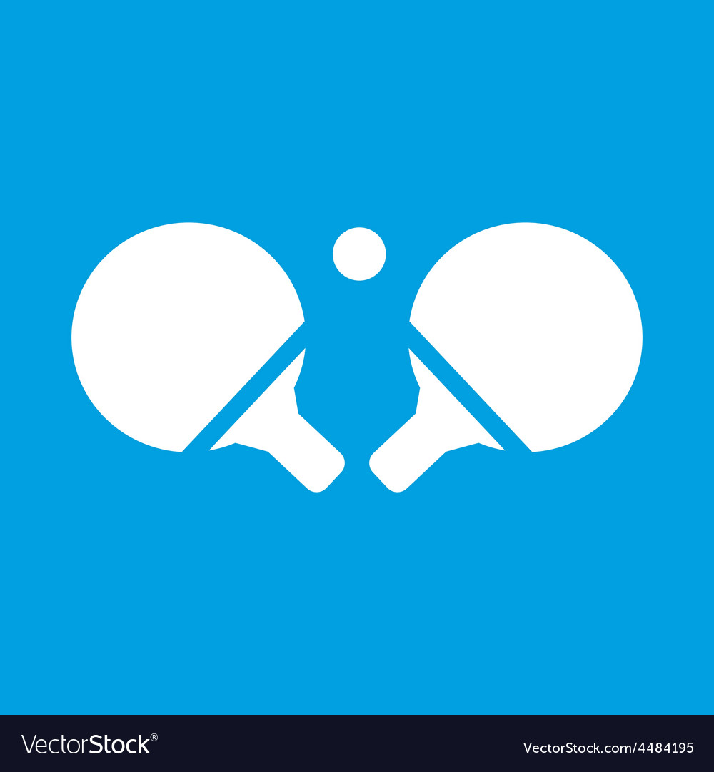 Table tennis white icon vector | Price: 1 Credit (USD $1)