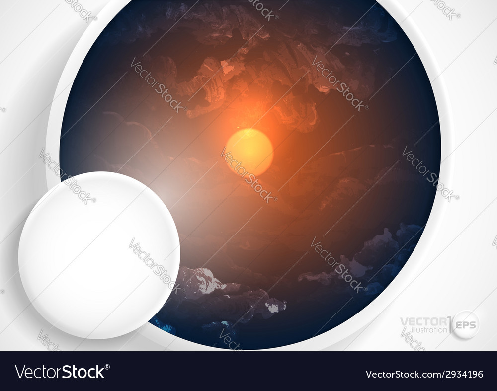 Abstract background with white paper circles vector | Price: 1 Credit (USD $1)