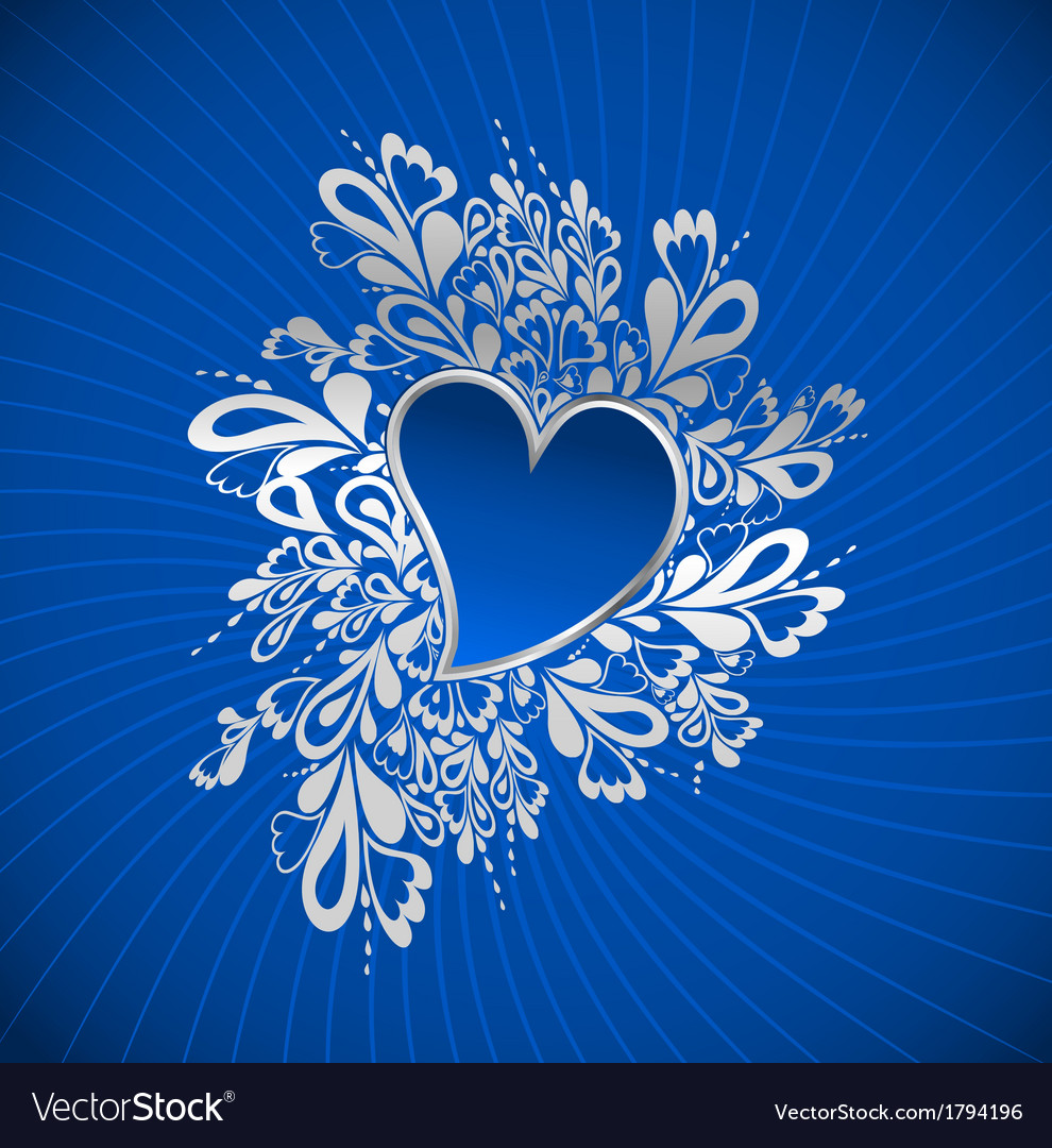 Blue heart to the stvalentine vector | Price: 1 Credit (USD $1)