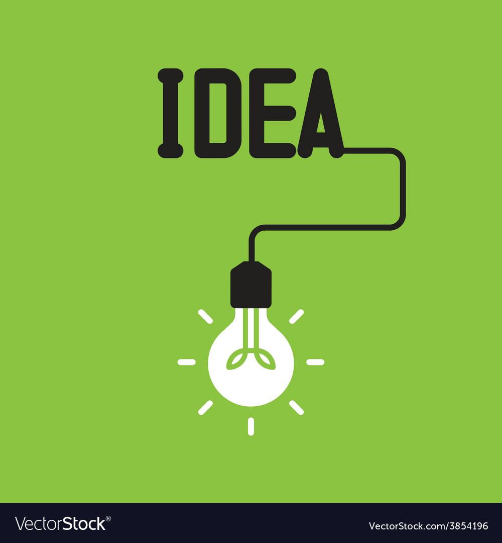 Bulb with idea concept vector | Price: 1 Credit (USD $1)