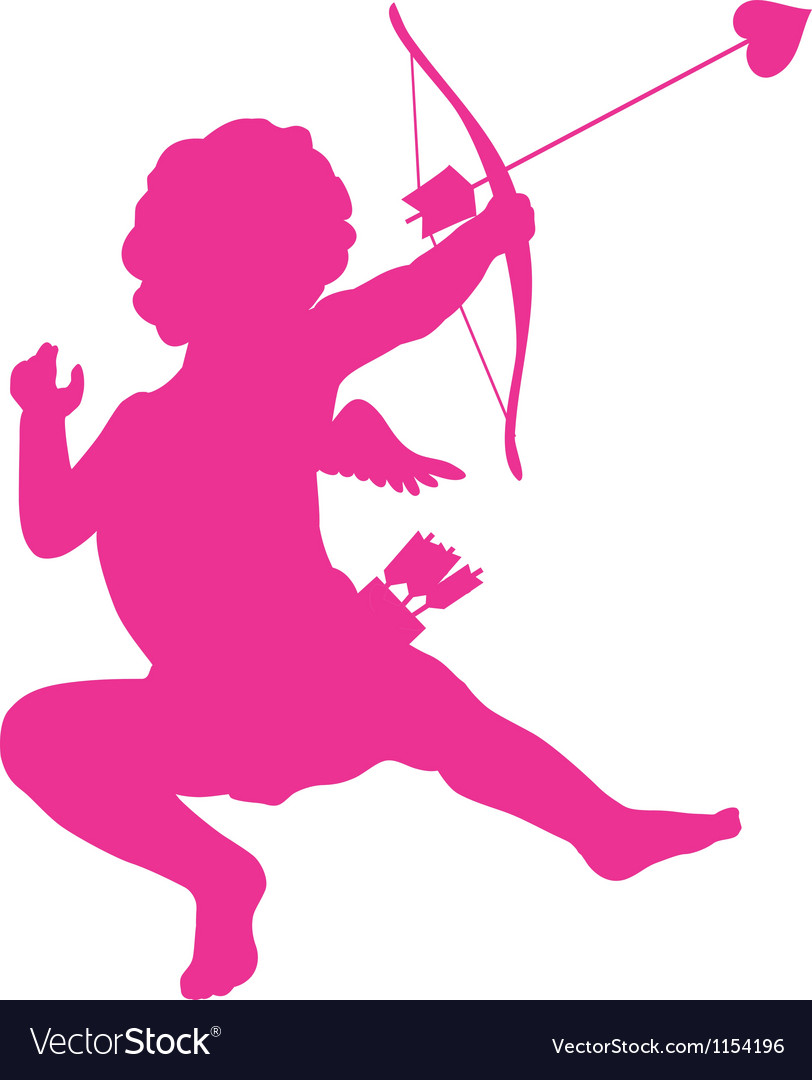 Cupid silhouette vector | Price: 1 Credit (USD $1)