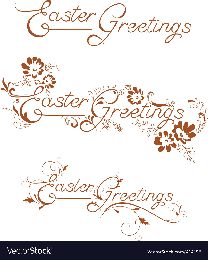 Easter greetings vector | Price: 1 Credit (USD $1)