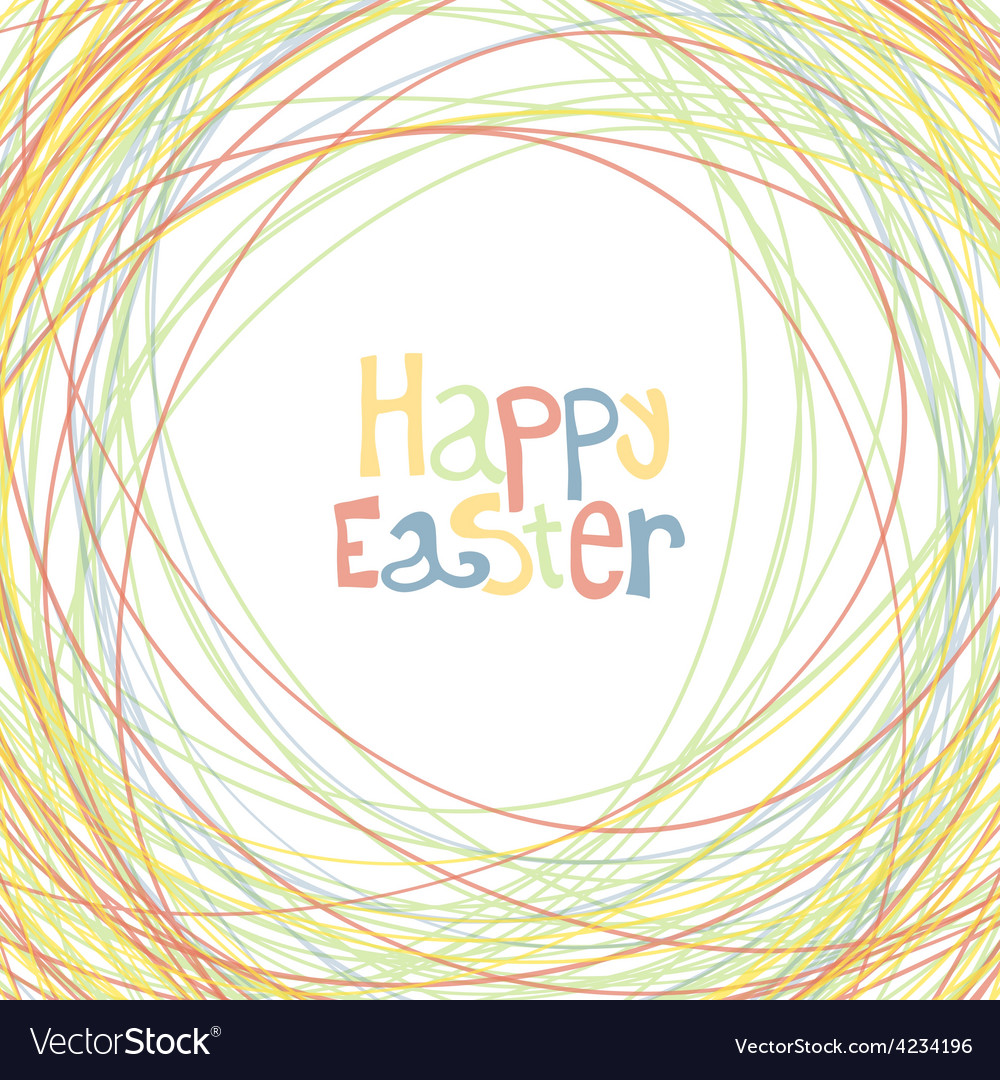 Easter happy card vector   Price: 1 Credit (USD $1)