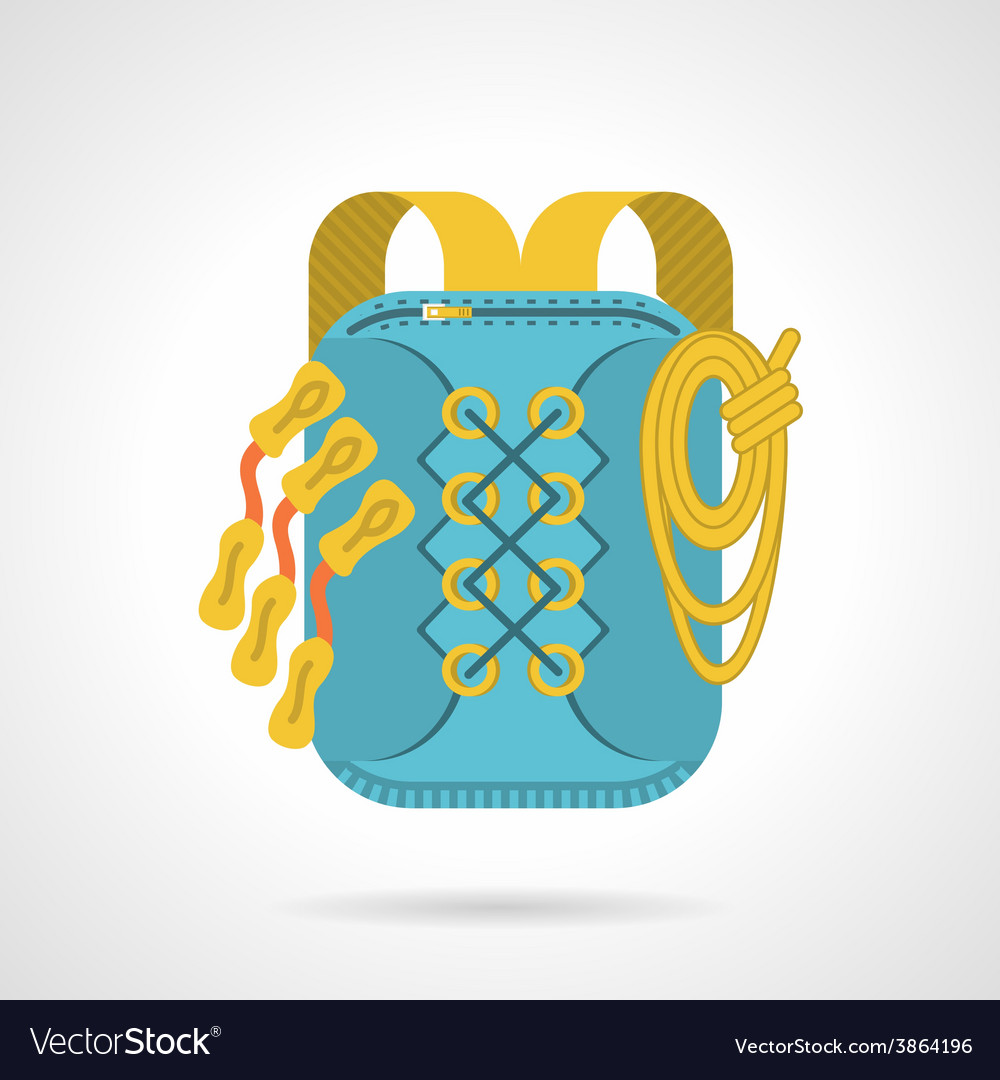 Flat icon for hike backpack vector | Price: 1 Credit (USD $1)