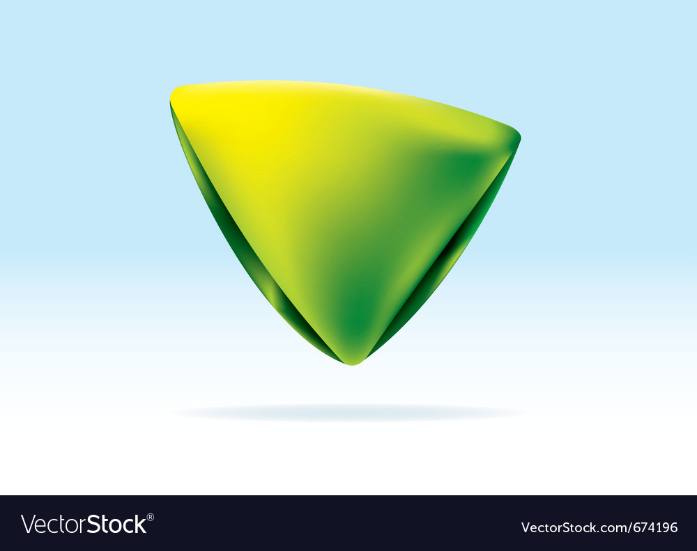 Green and yellow organic triangle icon vector | Price: 1 Credit (USD $1)