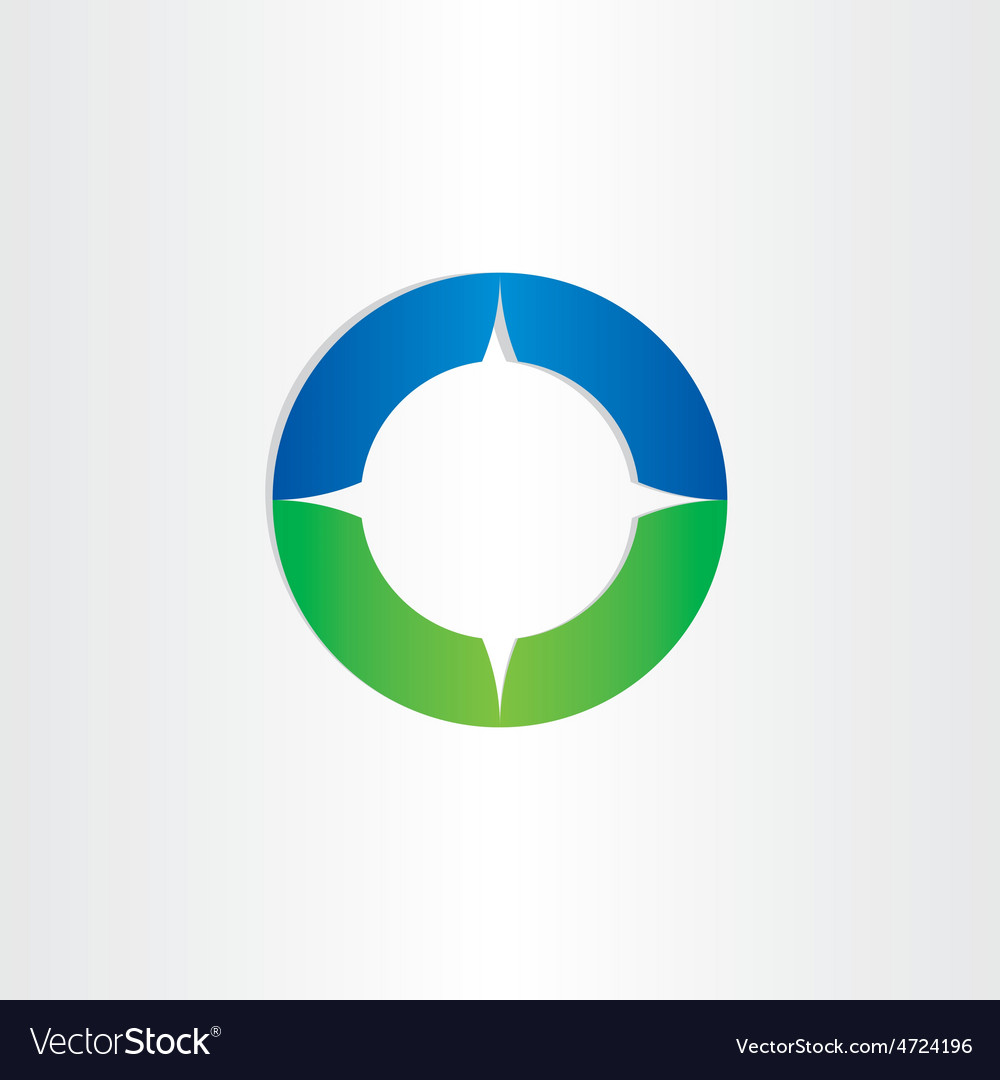 Green blue compass icon vector | Price: 1 Credit (USD $1)