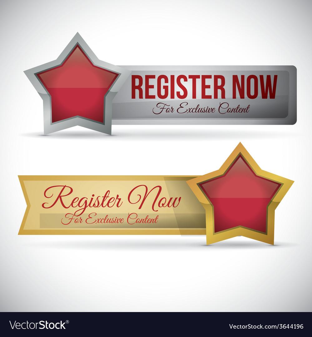 Register button design vector   Price: 1 Credit (USD $1)