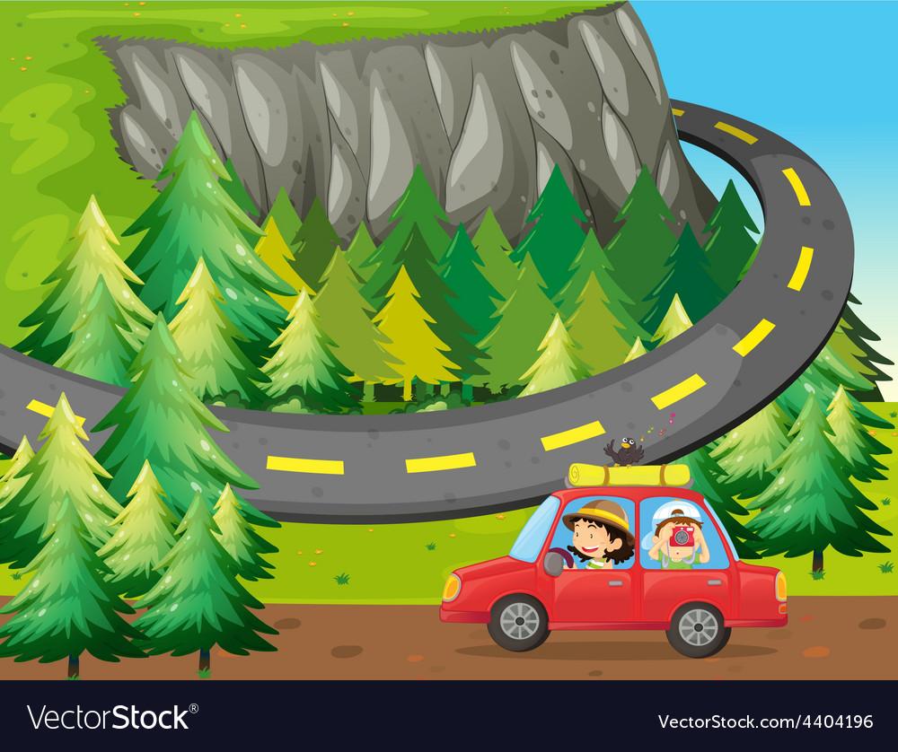 Road trip vector | Price: 3 Credit (USD $3)