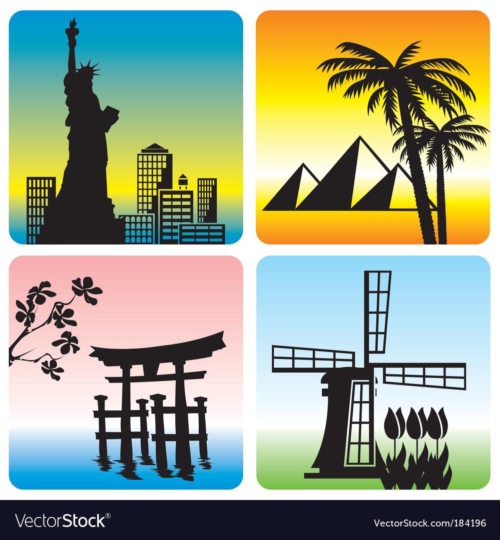 Travel landmark vector | Price: 1 Credit (USD $1)