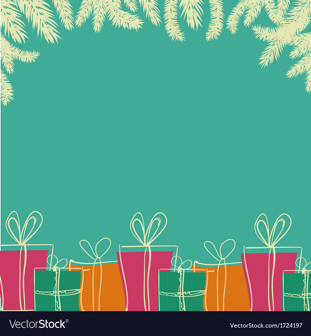 A pile of colorful christmas gift boxes vector | Price: 1 Credit (USD $1)