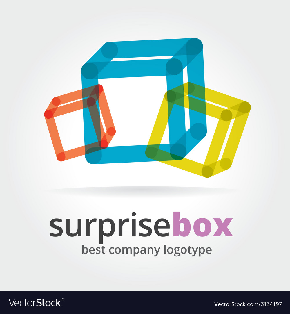 Abstract logotype with two box vector | Price: 1 Credit (USD $1)