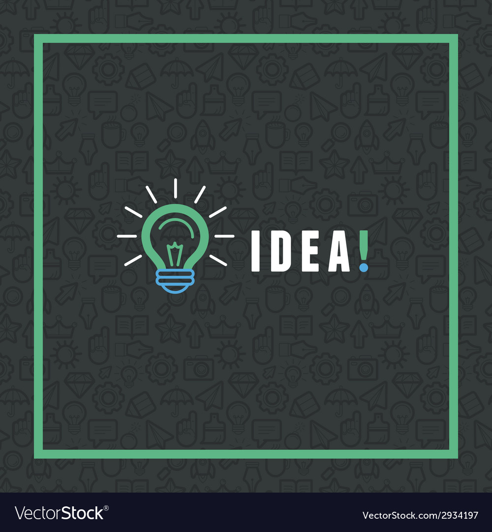 Creative idea concept in flat style vector | Price: 1 Credit (USD $1)