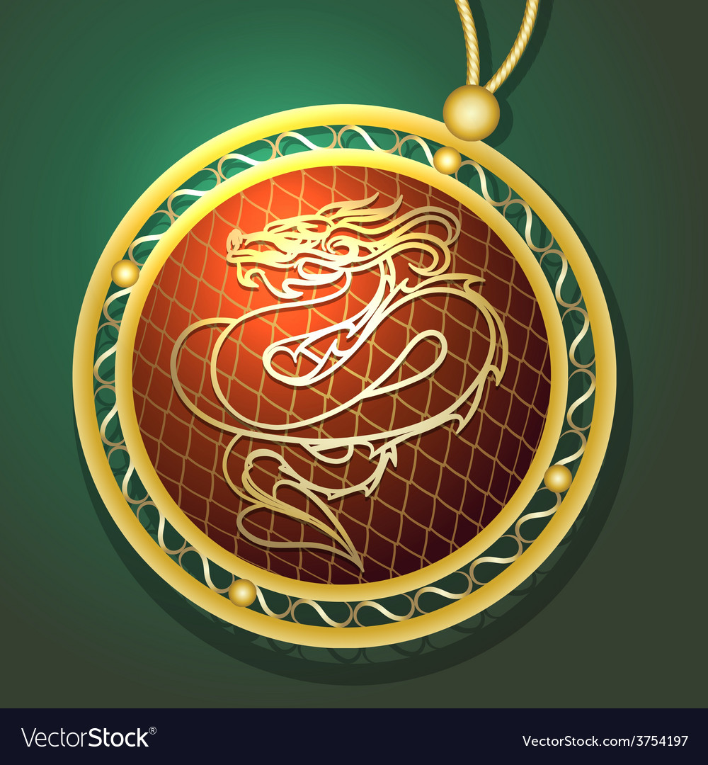 Dragon pendant vector | Price: 1 Credit (USD $1)
