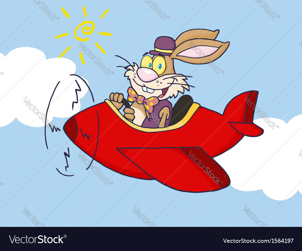 Easter bunny cartoon vector | Price: 1 Credit (USD $1)