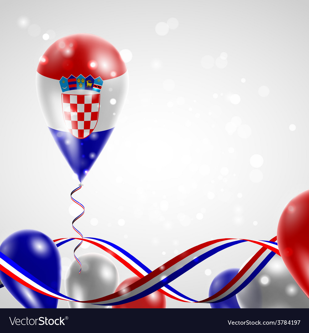 Flag of croatia on balloon vector | Price: 3 Credit (USD $3)